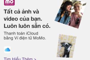 Ví điện tử MoMo nay có thể được sử dụng để thanh toán các giao dịch của Apple